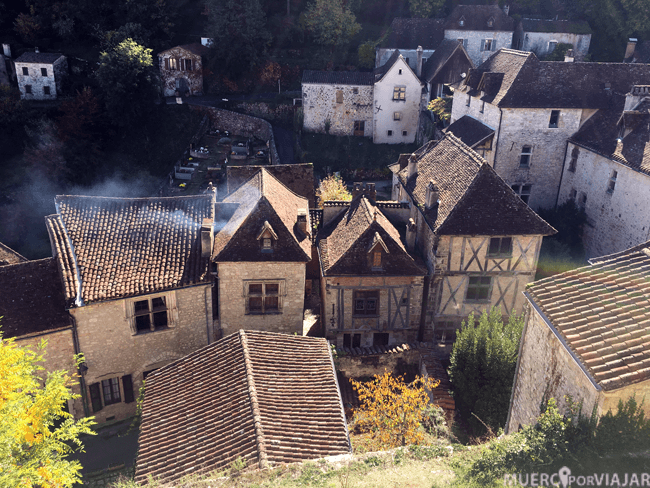 Las casitas del pueblo de Saint-Cirq-Lapopie