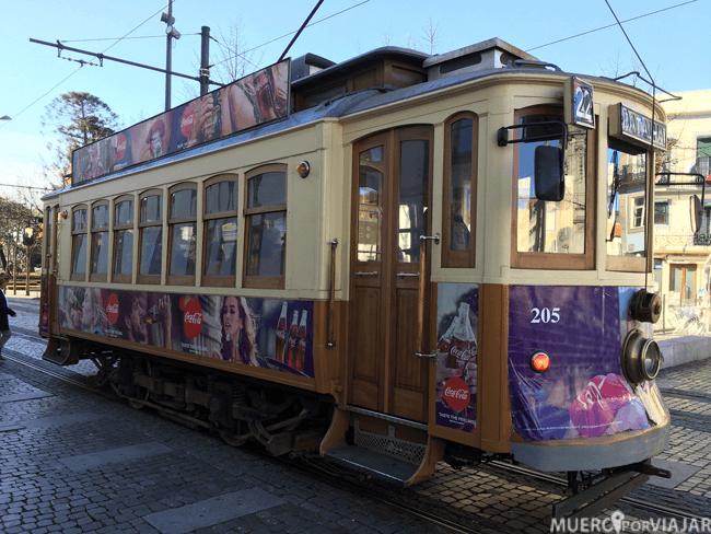 El bonito tranvía de Oporto