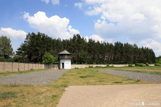 Lugar donde estaban situados algunos de los barracones Sachsenhausen