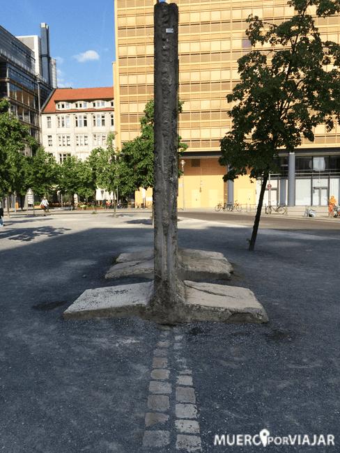 Muro de Berlín en Potsdamer Platz
