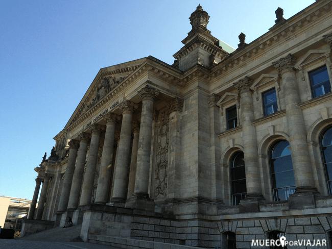 Edificio del Reichstag (Parlamento Alemán) en Berlín