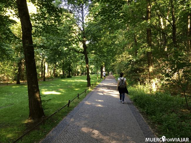 Hacia mucha calor pero dentro del parque, en la sombra, se estaba muy bien