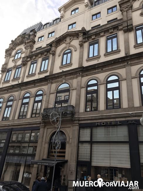 Fachada del hotel Da Bolsa en Oporto