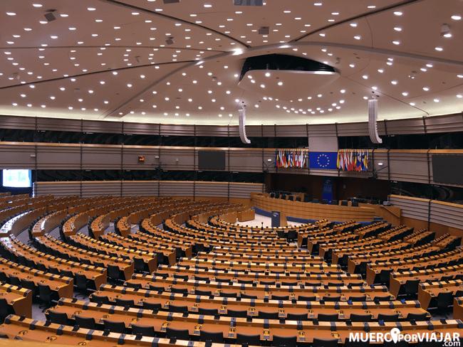El Hemiciclo del Parlamento Europeo en Bruselas