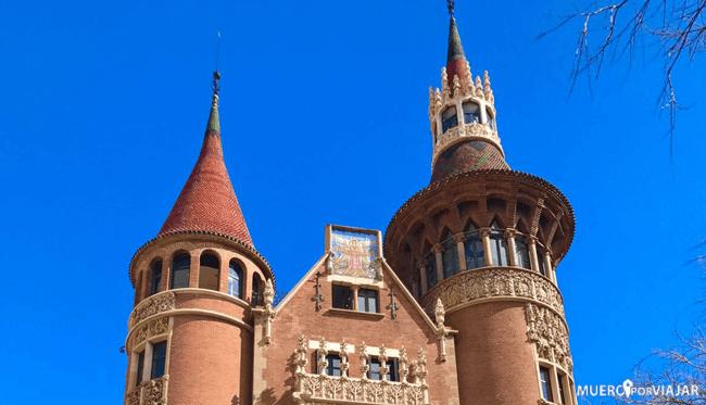 La casa de les punxes en Barcelona