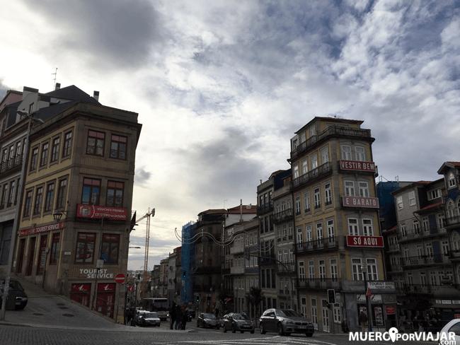 El centro de Oporto