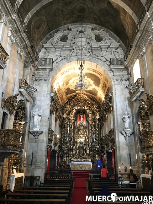 El interior de la Iglesia del Carmen y Iglesia de las Carmelitas es muy bonito