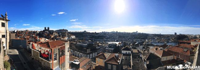 Vista del Barrio Judio desde el mirador de Oporto