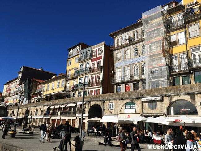 La Ribiera del río Duero en Oporto