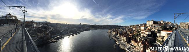 Panorámica desde la parte superior del puente Luis I