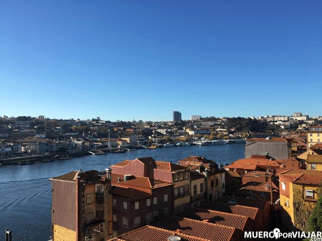 Las vistas de la Ribeira de Oporto desde el a