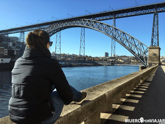 El puente de Luis I desde Vila Nova de Gaia