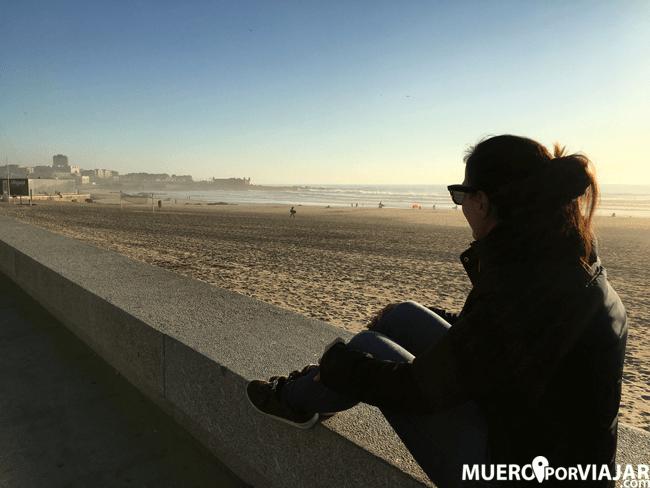 Las playas de las afueras de Oporto