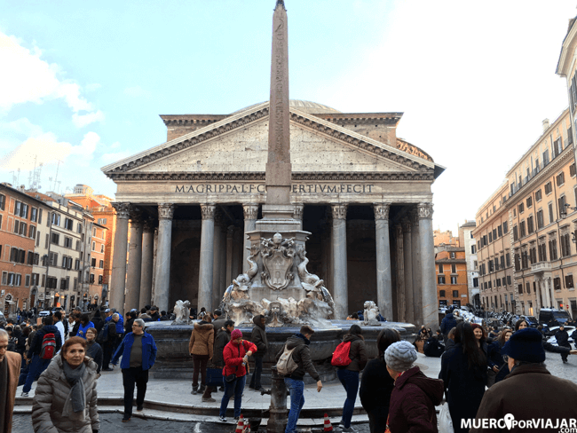 El impresionante Panteón, uno de nuestros los puntos preferidos de Roma