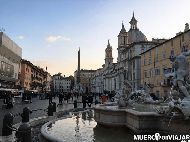 La bonita PiazzaNavona en Roma