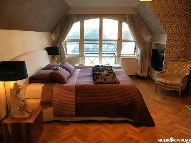 La habitación era un lujo, muy bien decorada, amplia y acogedora