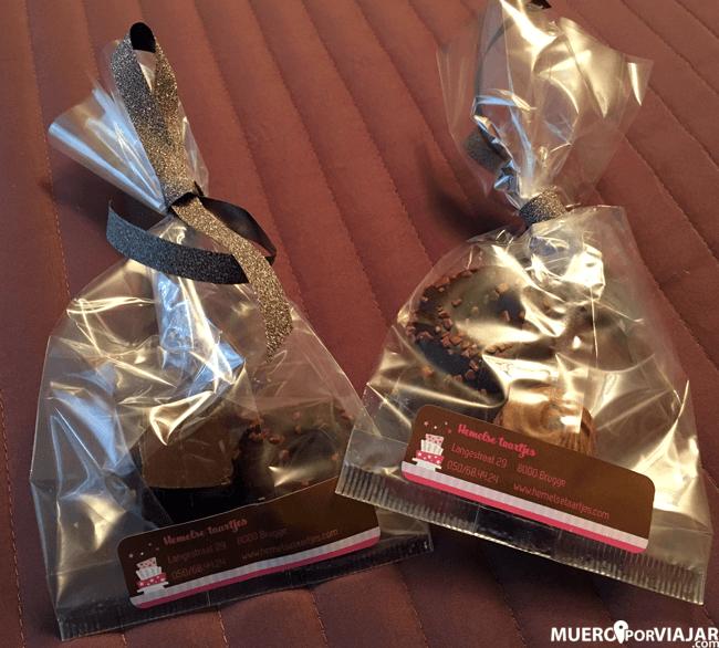 Bombones de chocolate Belga como regalo de bienvenida, un amor