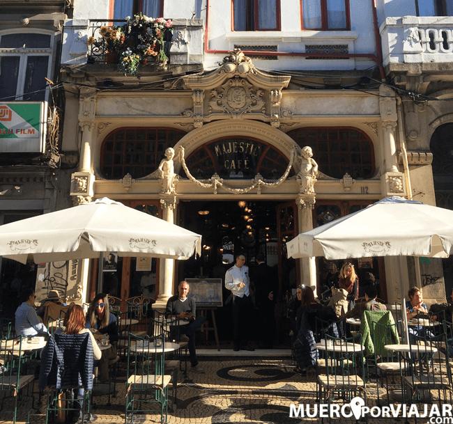 El famosos Cafe Majestic de Oporto
