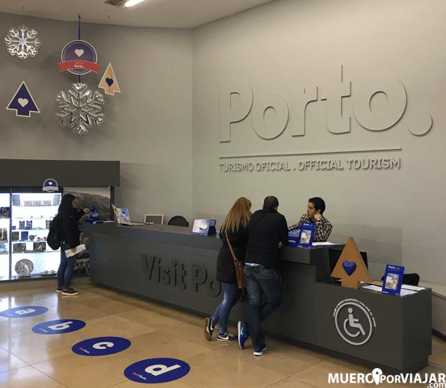 Oficina de turismo en Oporto