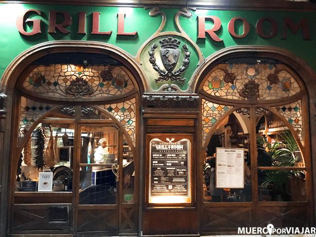 Restaurante Grill Room, un clásico de la sexta flota en Barcelona