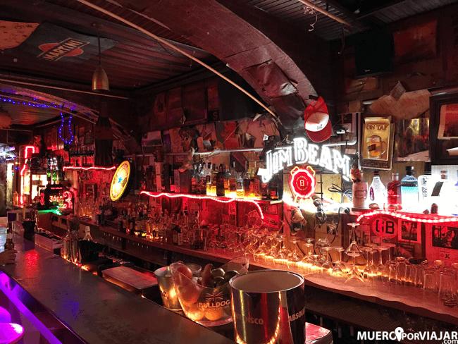la decoración del bar Kentucky es espectacular