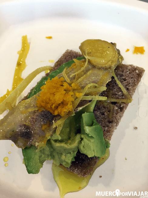 Lomo de sardina escabechada en cítricos y AOVE variedad Empeltre