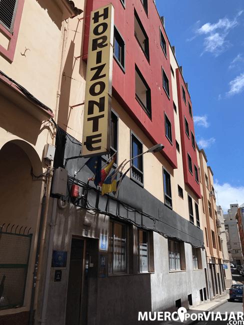 Fachada del Hotel Horizonte en Santa cruz de Tenerife