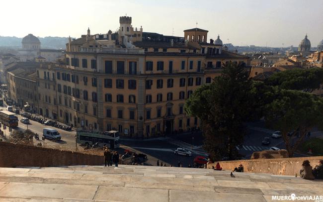 Desde Santa Maria en Aracoeli se tiene una bonita vista de una parte de Roma