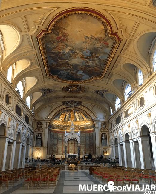 El interior de la Chiesa di Santa Cecília in Trastevere