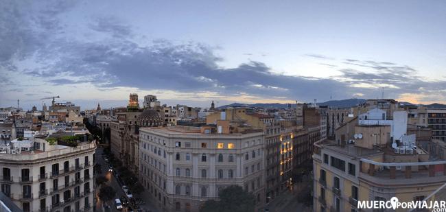 Fantásticas vistas desde la terraza del Hotel Negresco Princess en Barcelona