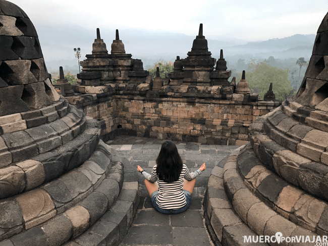 El templo de Borodubur es un remanso de paz y tranquilidad