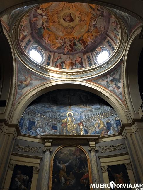 Precioso mural en el interior de la cúpula de Santa Pudenziana