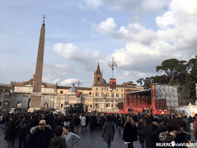 Celebración del nuevo año chino en la Piazza del Popolo