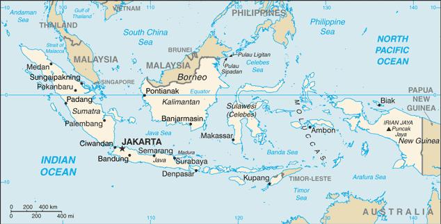 Mapa de Indonesia (Imagen de wikipedia)