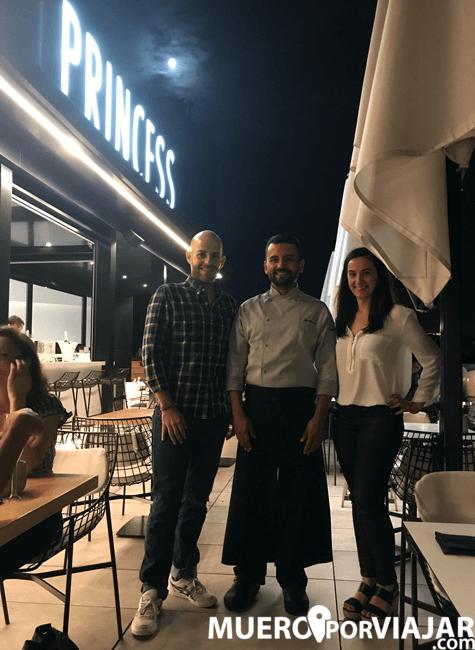 Disfrutamos de una espectacular cena en el Hotel Negresco Princess de la manos del fantástico chef Jon Garcia