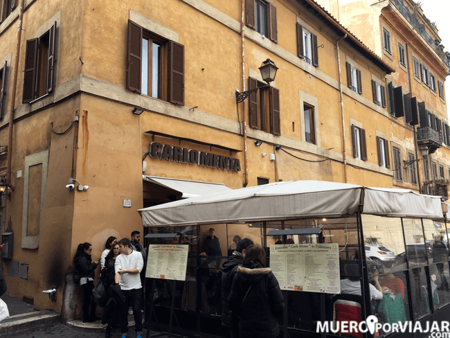 El restaurante Carlo Menta, en la zona de Trastevere