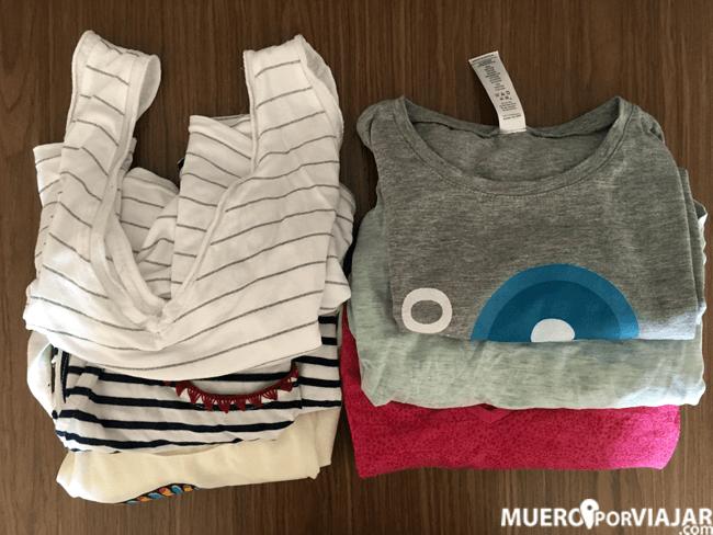 Camisetas de manga corta y tirantes para no pasar calor