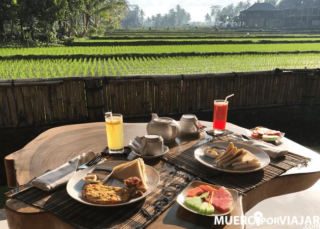 Desayuno en nuestro hotel en Bali
