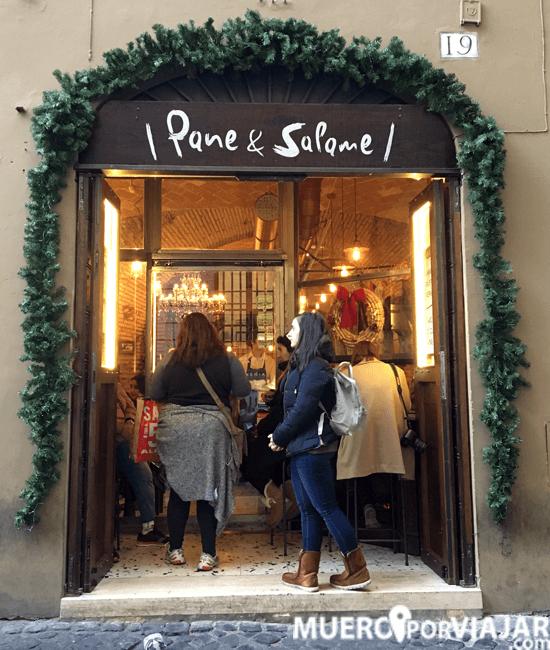 Restaurante Pane & Salame en la zona de la Fontana di Trevi