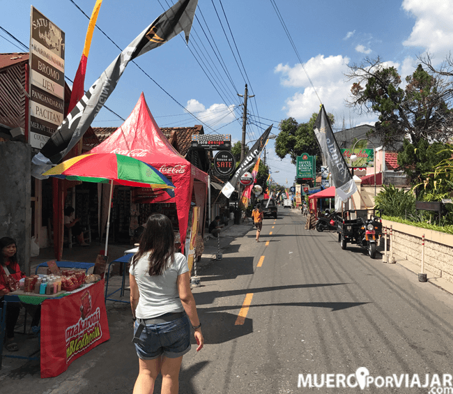 Paseando por la calle Malioboro en Yogiakarta