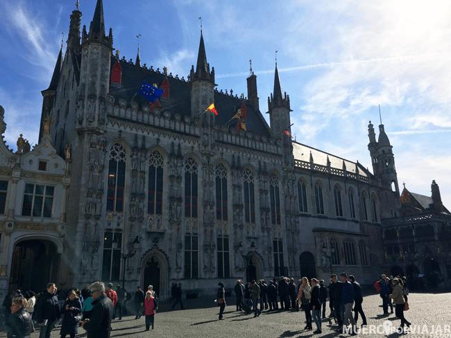La plaza del Grote Markt en Brujas
