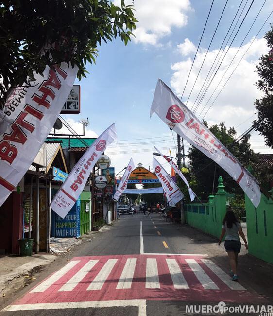 CalleJl. Prawirotaman en Yogyakarta