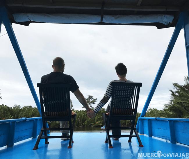 Klotok en Borneo