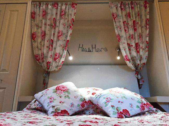 La decoración de la cama era preciosa y además super cómoda
