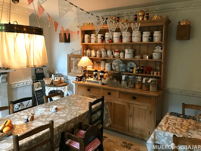 El comedor de Fosse Farmhouse, muy bonito y agradable