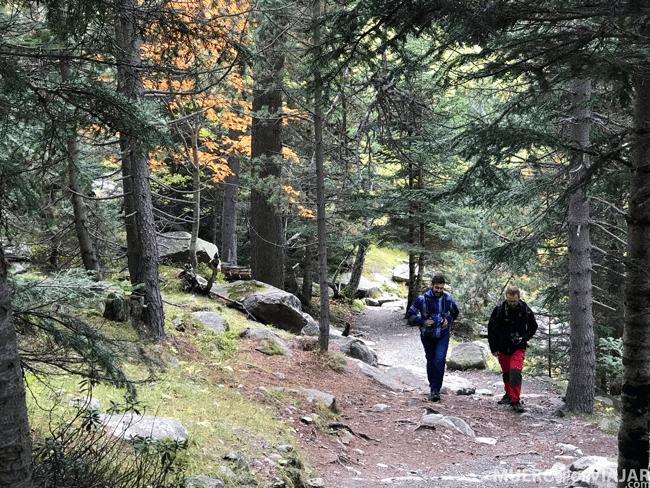 Aquí los compañeros David y Manel paseando y disfrutando del parque