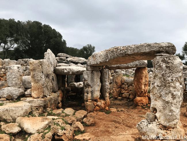 El poblado talayótico de Torre d'en Galmés en Menorca