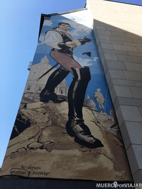 Mural de cómic en Bruselas