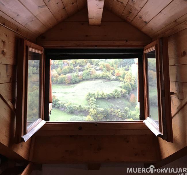 El techo de madera y estas vistas, sin duda un paraíso.