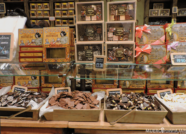 No podían faltar las tiendas de chocolate, hay muchas y todas tienen una pinta espectacular
